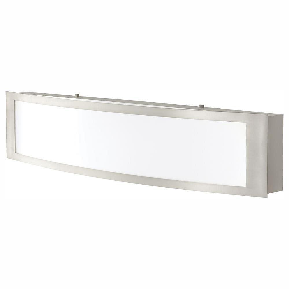 Home Decorators Collection 24-inch Brushed Nickel Integrated LED Vanity Light - ENERGY STAR®