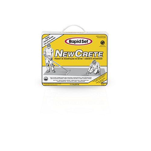 Rapid Set Enduit NewCrete de resurfaçage pour béton, 25 lb