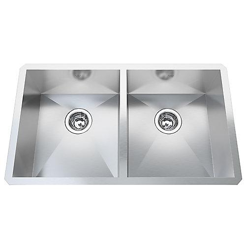 20 Ga HandFab UM Double Sink