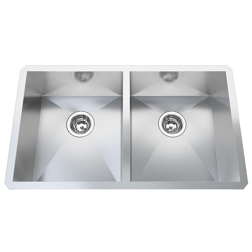 Kindred 20 Ga HandFab UM Double Sink