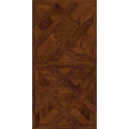 16 in. x 32 in. Chateau Parquet Dark Luxury Vinyl Tile Flooring (21.3 sq. ft. / case)