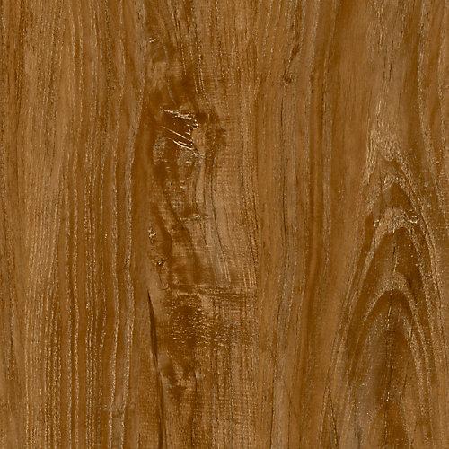 Verrouillage plancher de vinyle de luxe,  7,5 po x 47,6 po (19,8 pi2 / caisse), brun chêne vieilli