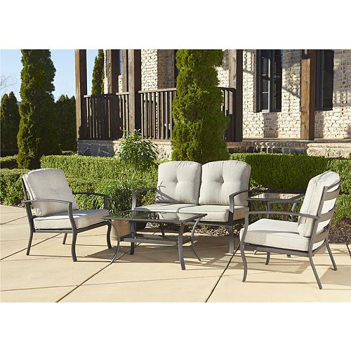 Serene Ridge 5-Piece Patio Conversation Set with Coffee Table