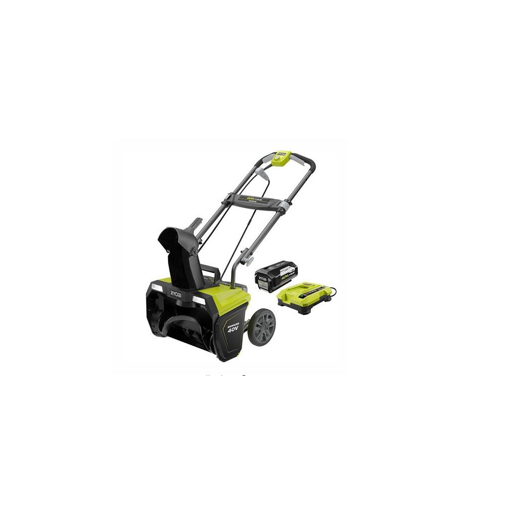 RYOBI 20-Inch 40V Brushless Cordless Electric Snow Blower with 5.0 Ah Battery and Charger