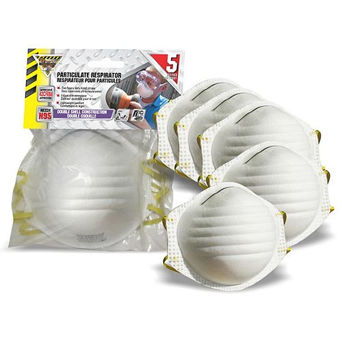 N95 Disposable Dust Mask (5-Pack)