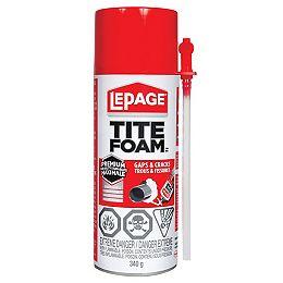 LePage Tite Foam  Gaps & Cracks Insulating Foam Sealant, 340 g