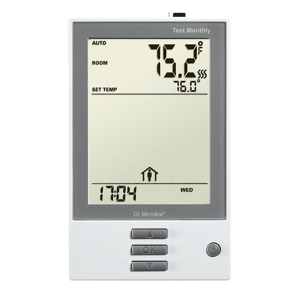 WarmlyYours nHance: Thermostat. Programmable, Class A GFCI, w/Floor Sensor