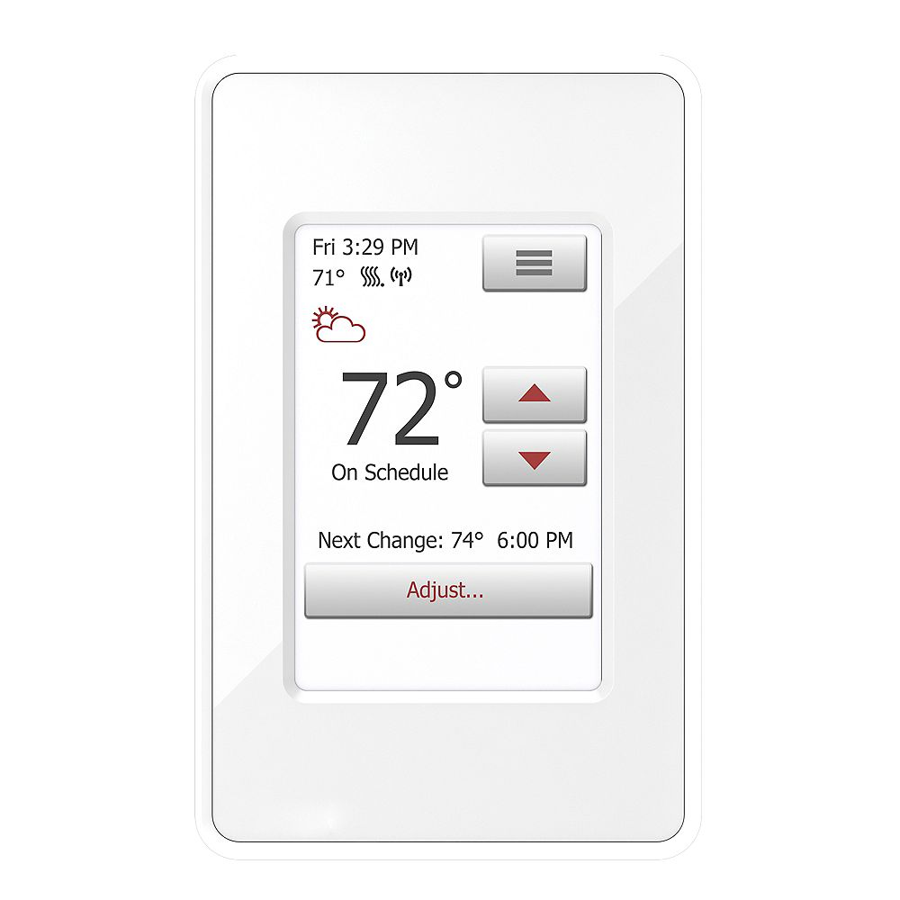 WarmlyYours nSpire Touch WiFi: WiFi and Touch Thermostat. Programmable, Class A GFCI, w/Floor Sensor