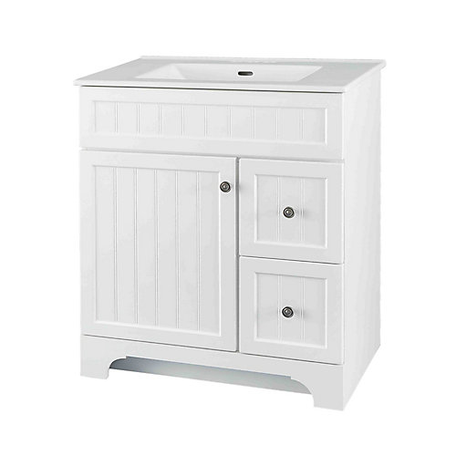 Whitton 30-inch W Vanity Combo with White Vitreous China