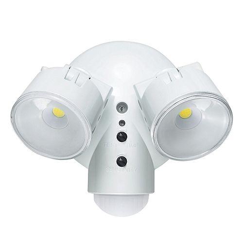 Globe Electric Luminaire De Sécurité Et Détecteur De Motion Extérieur À 2 Lampes Del Résistant Aux Intempéries