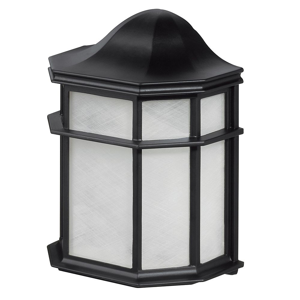 Globe Electric Melrose 1-Light Outdoor Weather Resistant Wall Sconce in Glossy Black