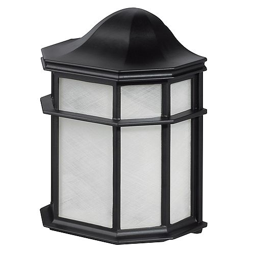 Melrose 1-Light Outdoor Weather Resistant Wall Sconce in Glossy Black