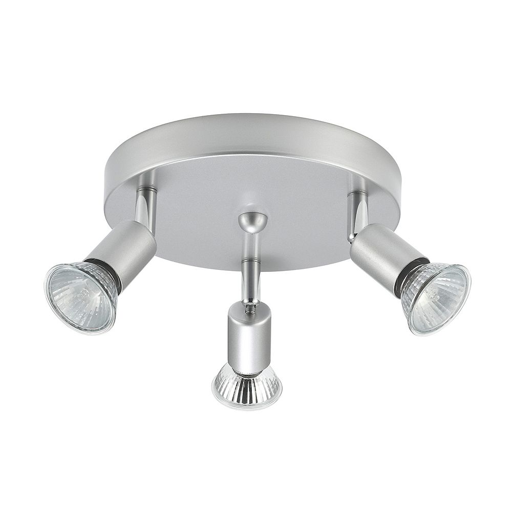 Globe Electric Payton 3 Light Brushed Silver Semi Flush Mount Ceiling Light The Home Depot Canada