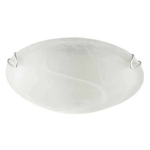 Globe Electric Plafonnier encastré Pennington, 10 po, verre d'albâtre blanc givré, blanc, ens. de 2