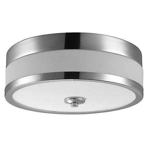 Carolina 11-inch 1-Light Chrome Flush Mount Ceiling Fixture