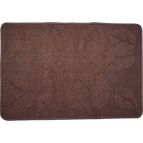 Carpette utilitaire d'intérieur, 1 pi 8 po x 2 pi 8 po, rectangulaire, brun Laurel Portland