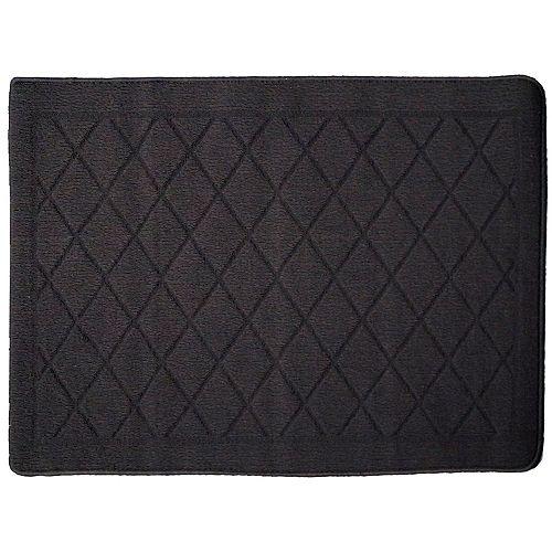 Carpette utilitaire d'intérieur, 1 pi 8 po x 2 pi 8 po, rectangulaire, gris Laurel Providence