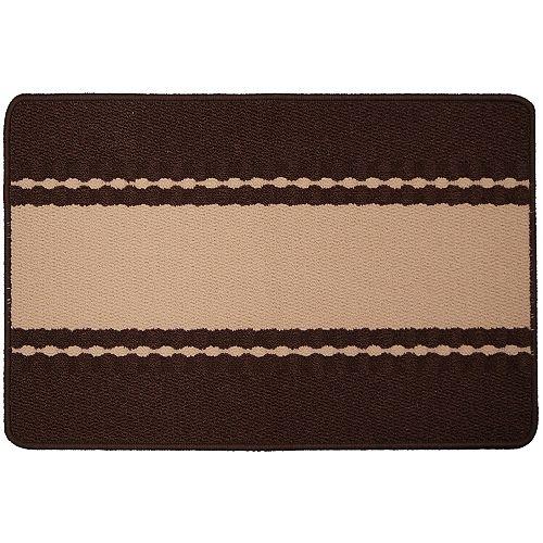 Carpette utilitaire d'intérieur, 1 pi 8 po x 2 pi 8 po, rectangulaire, brun Orlando