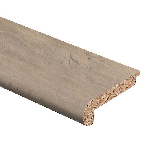 Zamma Moulure de nez d'escalier en bois dur de 1/2 po d'épaisseur x 2-3 / 4 po de large x 94 po de longueur, Miramonte Birch