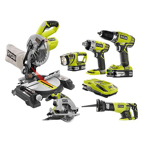 18V ONE+  Lithium-Ion Cordless Combo Kit (6-Tool)