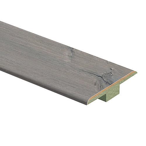 Moulure en T en stratifié de 7/16 po d'épaisseur x 1 3/4 po de largeur x 72 po de longueur, Chêne d'argent