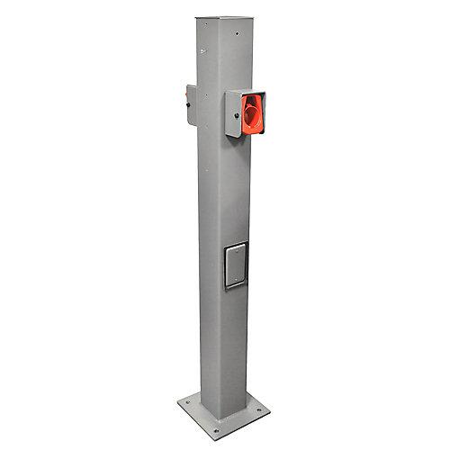 EV Pedestal Mounting Pole and Base