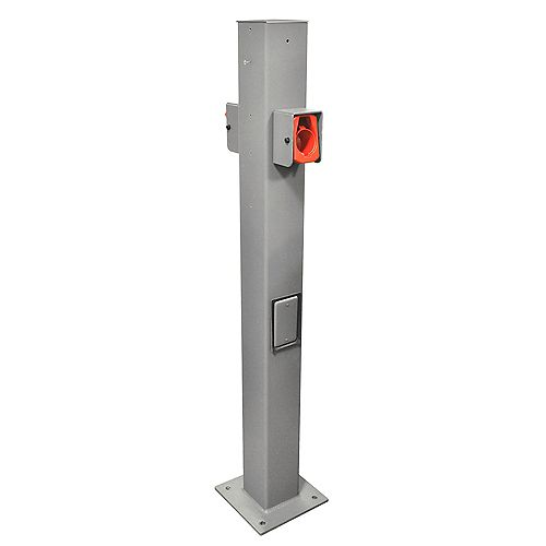 EV Pedestal Mounting Pole and Base