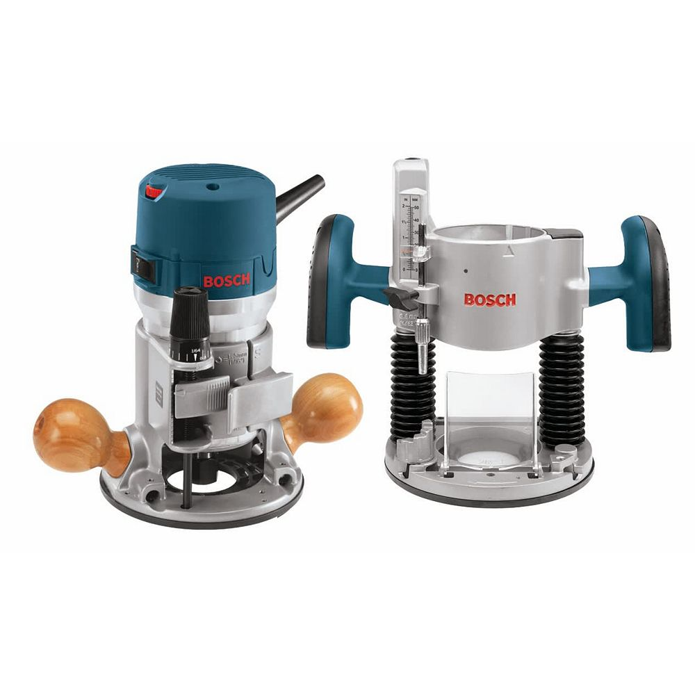 Bosch 120V 2.25HP Corded Combination Plunge- and Fixed-Base Router with Variable Speed and Carrying Case
