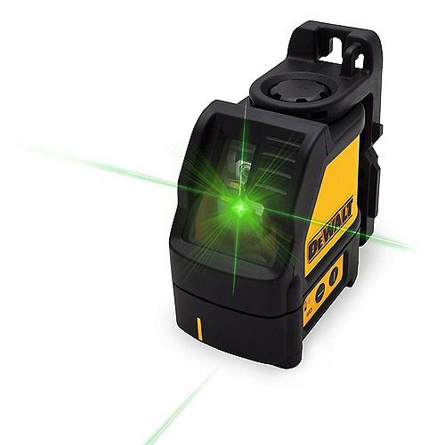 DEWALT 165 ft. Green Self-Leveling Cross Line Laser Level with (3) AAA Batteries & Case
