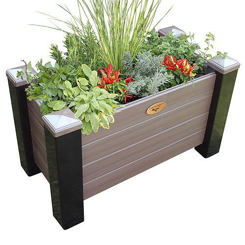 Jardinière surélevée sans entretien de 60cm x 121cm x 81cm bois protégé contre les intempéries