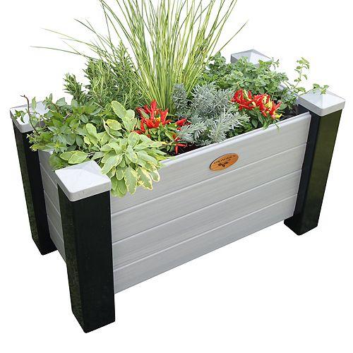 Jardinière surélevée sans entretien de 60cm x 121cm x 81cm Noir / Noyer