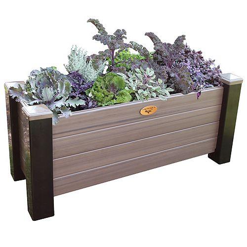 Jardinière surélevée sans entretien de 60cm x 121cm x 81cm Noir / Gris