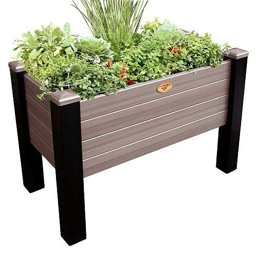 Jardinière surélevée sans entretien de 45cm x 91cm x 81cm Noir / Noyer
