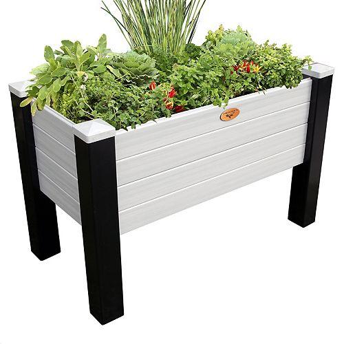 Jardinière surélevée sans entretien de 60cm x 91cm x 81cm Noir / Gris