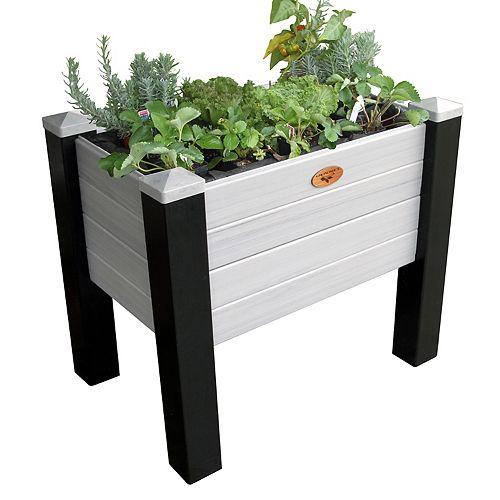 Jardinière surélevée sans entretien de 45cm x 121cm x 81cm Noir / Gris