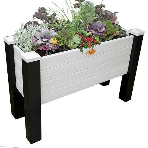 Jardinière sans entretien de 45cm x 121cm x 50 cm Noir / Gris