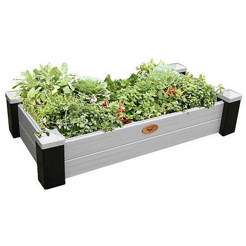 Jardinière en hauteur sans entretien de 60cm x 121cm x 25cm Noir / Gris