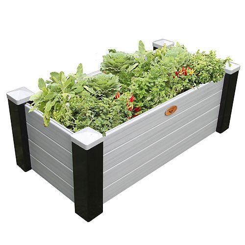 Jardinière en hauteur sans entretien de 60cm x 121cm x 45cm Noir / Gris