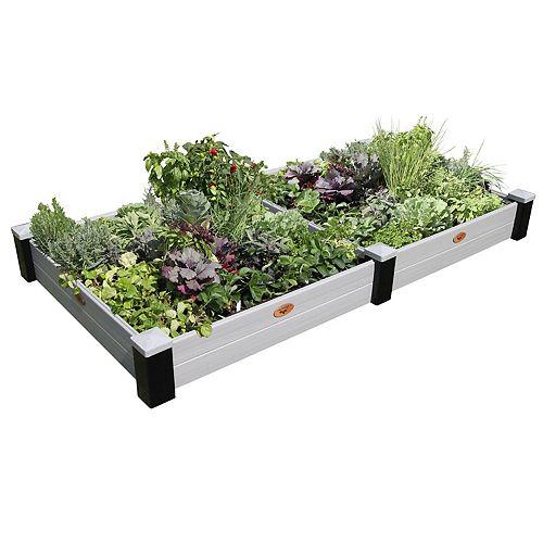 Jardinière en hauteur sans entretien de 121cm x 231cm x 25cm  Noir / Gris