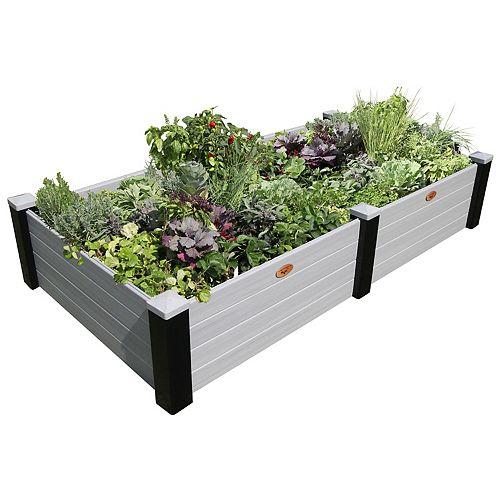 Jardinière en hauteur sans entretien de 121cm x 231cm x 45cm Noir / Gris