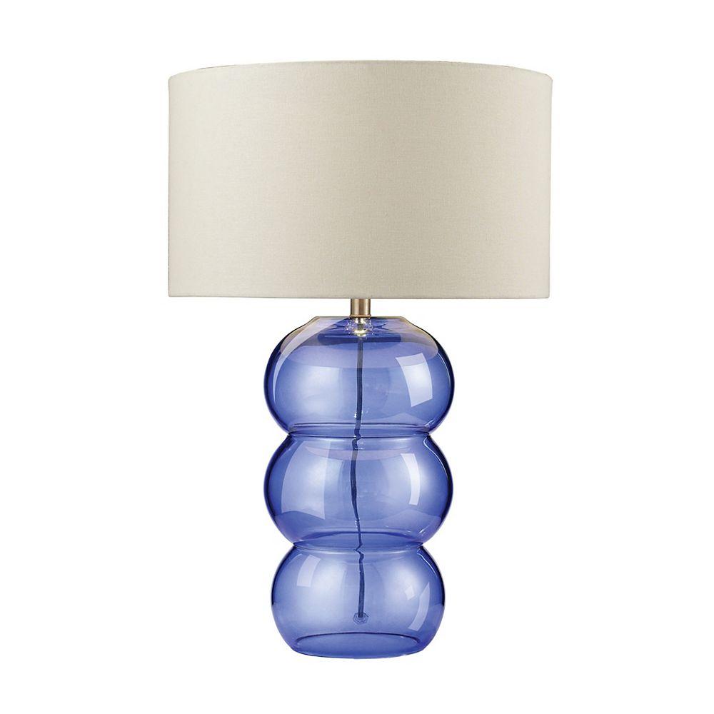 Titan Lighting Lampe de table Ring de 28po en verre au fini cobalt