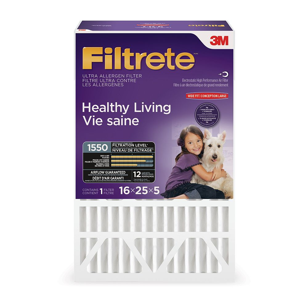 """Filtrete Filters 16-inch x 25-inch x 5-inch Ultra Allergen Reduction Deep Pleated Filtrete"""" Furnace Filter"""