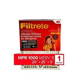 20-inch x 25-inch x 5-inch Deep Pleat Allergen Defense MPR 1000 Furnace Filter