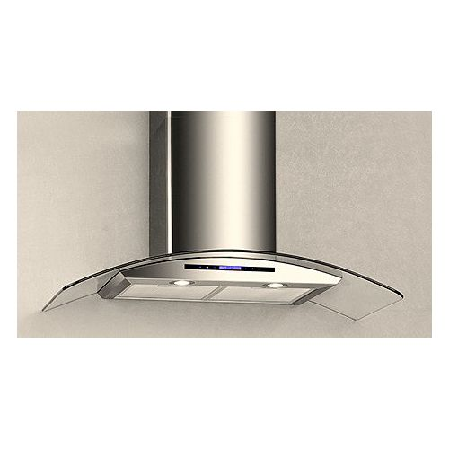 36-inch 600 CFM Wall Mount Range Hood in Glass with Sensor and Touch Control