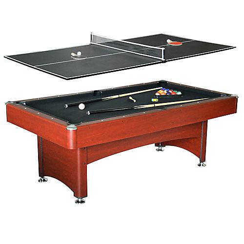 Table de billard avec dessus pour tennis de table, 7 pi