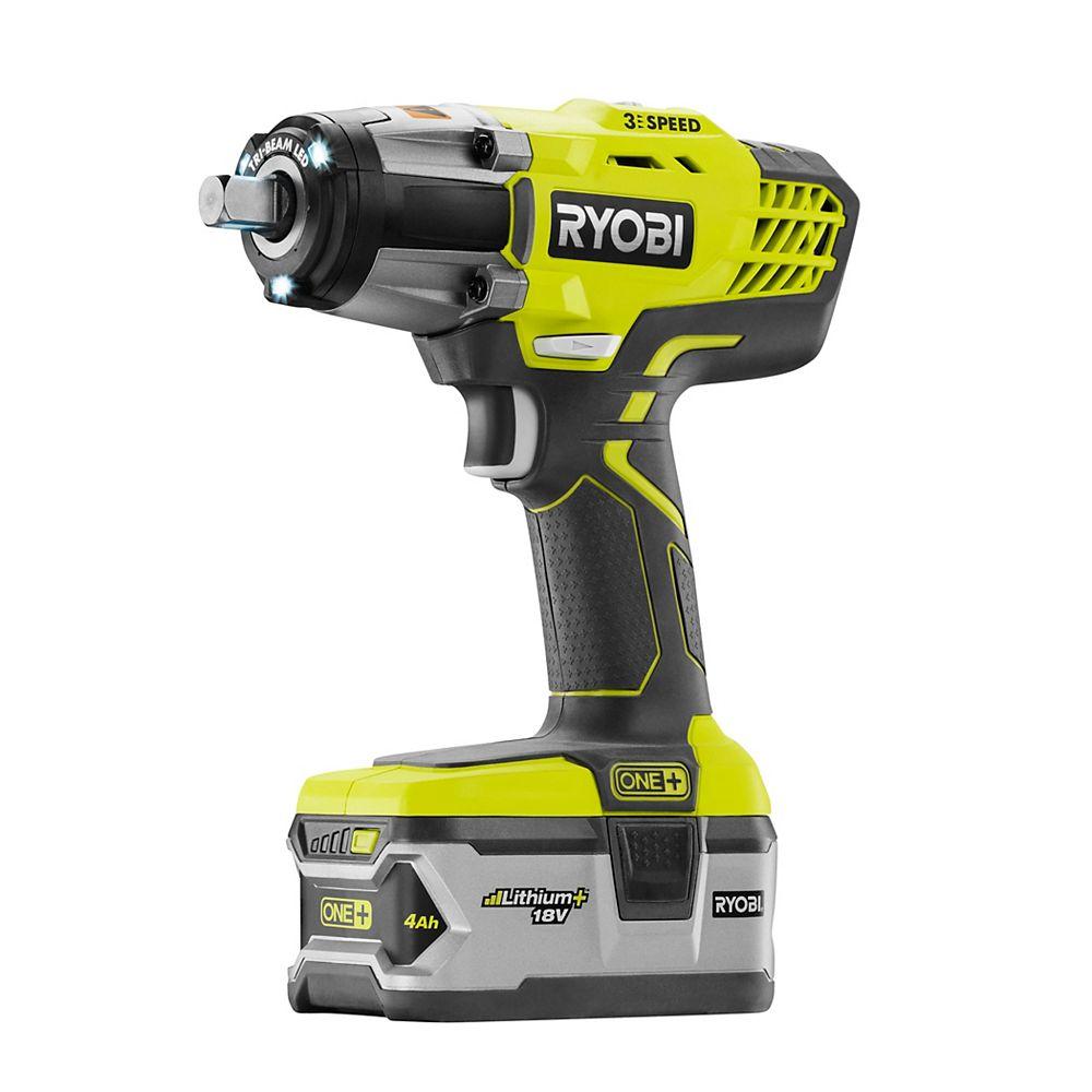 RYOBI 18V ONE+ Cordless Impact Wrench Kit
