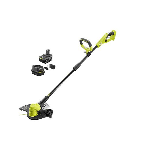 18V ONE+ Lithium-Ion Cordless String Trimmer/Edger with 4.0 Ah Battery and Charger