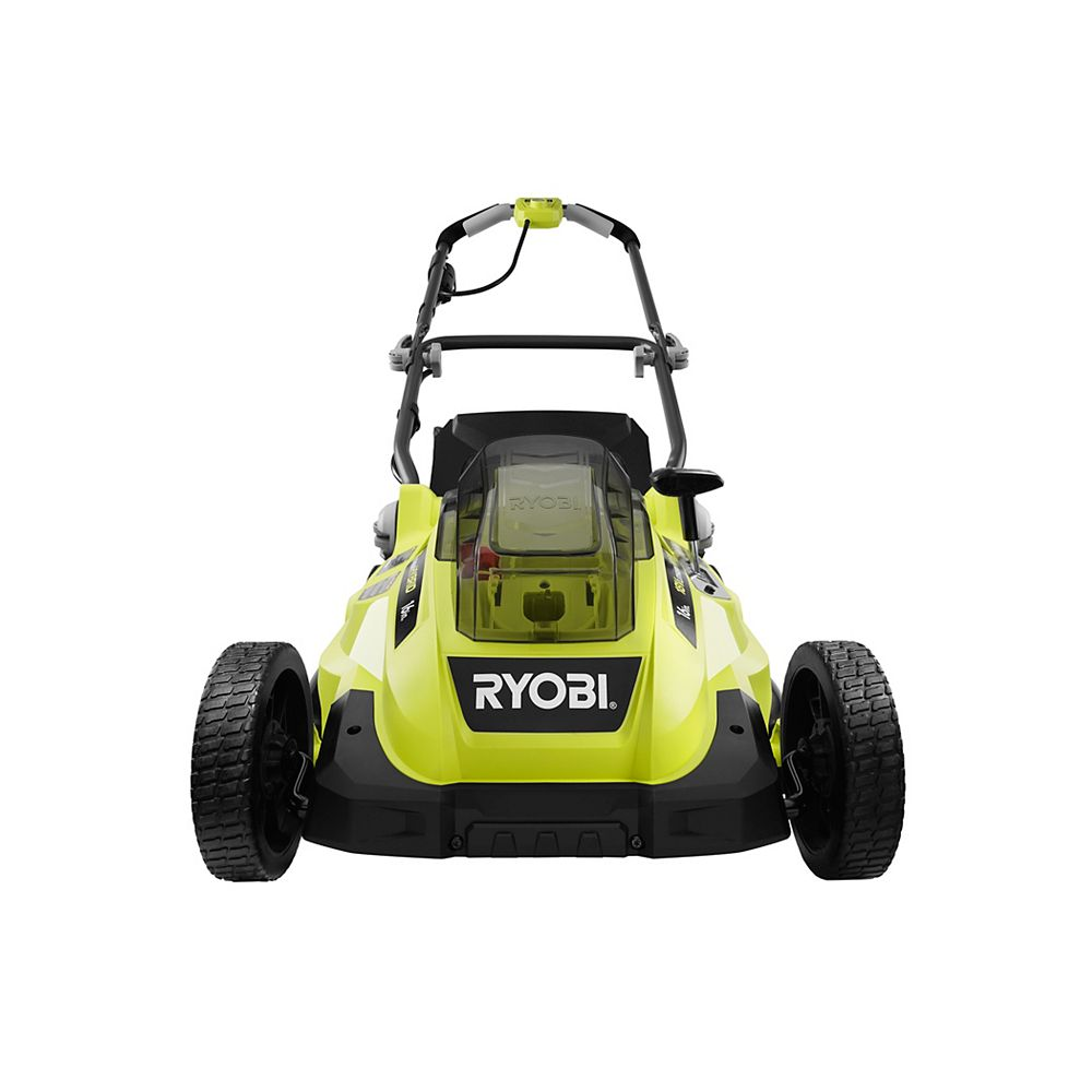RYOBI 18V ONE+ Lithium-Ion Hybrid 16-inch Push Lawn Mower w/ 4.0 Ah Battery and Charger
