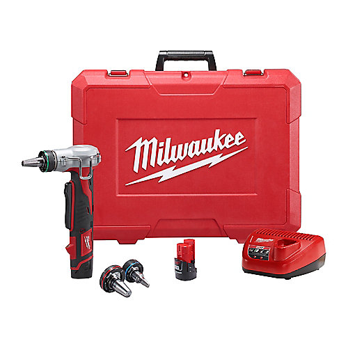 M12 12V Lithium-Ion Cordless ProPEX Expansion Tool Kit W/ (2) 1.5Ah Batteries & Hard Case
