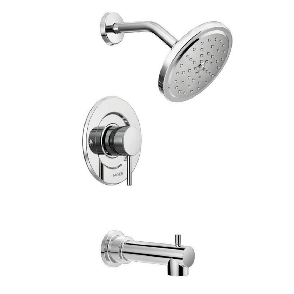 MOEN Align 1-Handle Moentrol Tub and Shower Faucet Trim Kit in Chrome (Valve Not Included)
